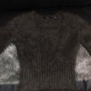 Express angora sweater